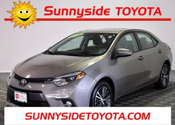 2016 Toyota Corolla Le Premium Edition W Alloys Leather Moonroof Certified